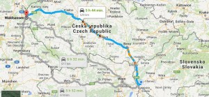 mapa Bratislava - Waldsassen