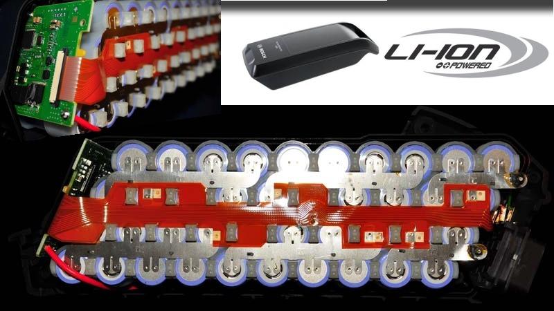E-bike batéria Bosch pohľad do vnútra