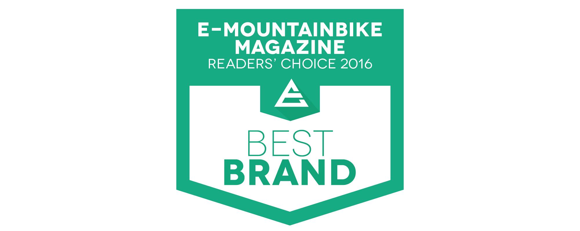 Najlepšie značky 2016 podľa časopisu E-Mountainbike